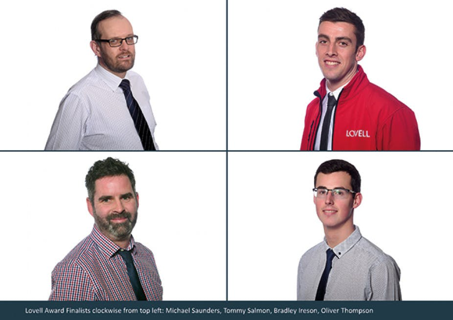 Lovell Award Finalists L/R: Michael Saunders, Tommy Salmon, Bradley Ireson, Oliver Thompson